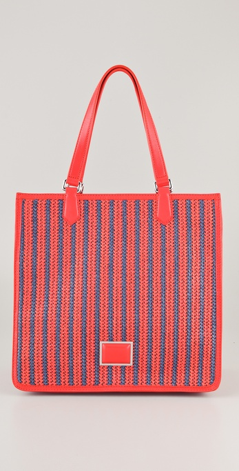 Marc by Marc Jacobs Stripey Straw Sami Tote