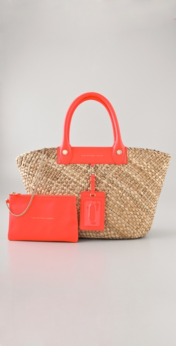 Marc by Marc Jacobs Preppy Straw Ragosa Tote