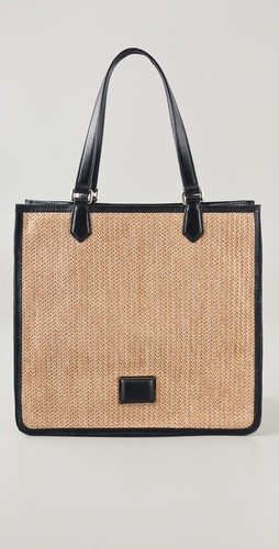 Marc by Marc Jacobs Solid Straw Sami Tote