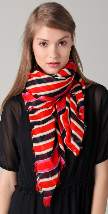 Marc by Marc Jacobs Jacobson Stripe Scarf