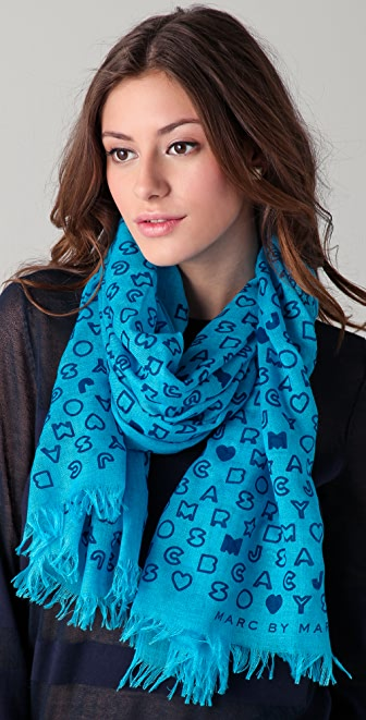 Marc by Marc Jacobs Stardust Logo Scarf