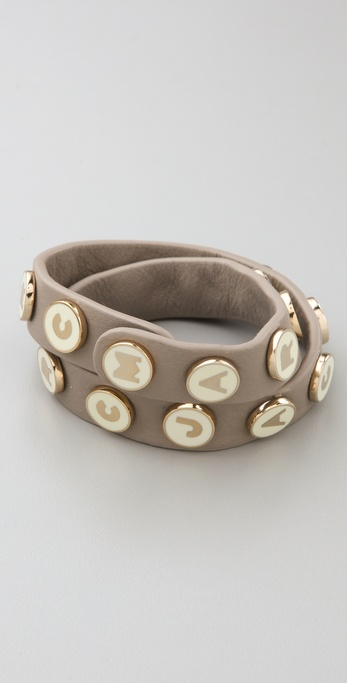 Marc by Marc Jacobs Dreamy Logo Double Wrap Bracelet