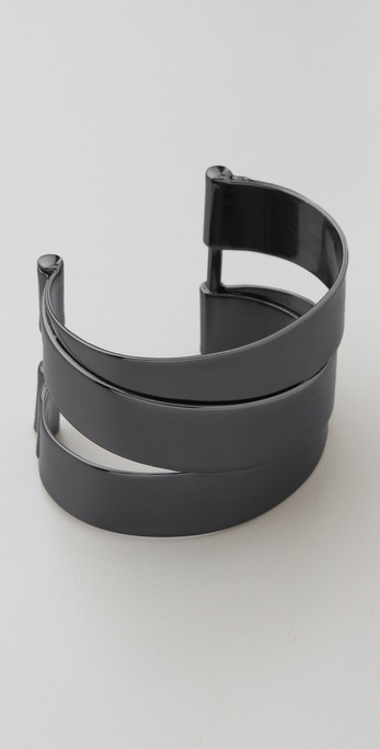 Marc by Marc Jacobs Metal Ribbons Narrow Wrapped Cuff