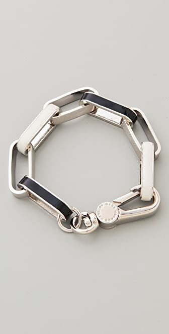 Marc by Marc Jacobs Enamel Turnlock Stripey Link Bracelet
