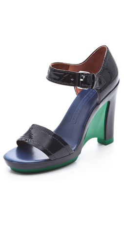 Marc by Marc Jacobs Color Blocker Platform Sandals