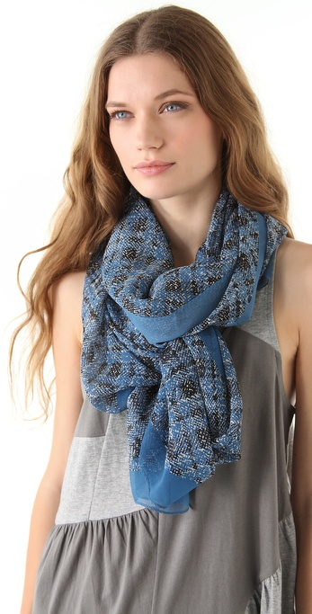 Marc by Marc Jacobs Static Plaid Scarf