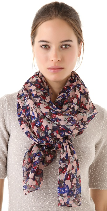 Marc by Marc Jacobs Mokume Floral Scarf