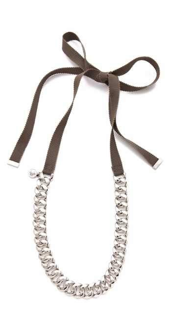 Marc by Marc Jacobs Pretty Skinny Turnlock Necklace