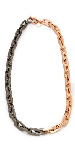 Marc by Marc Jacobs Mini Links Bicolor Link Necklace