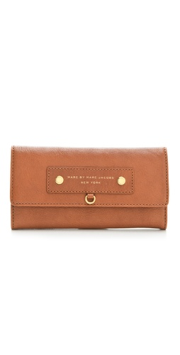 Marc by Marc Jacobs Preppy Leather Long Trifold Wallet