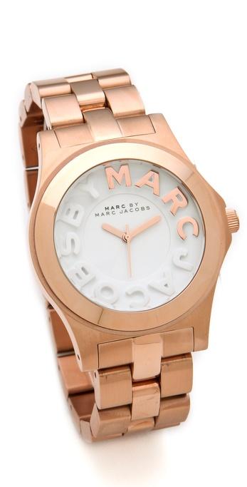 Marc by Marc Jacobs Metal Rivera Logo Watch