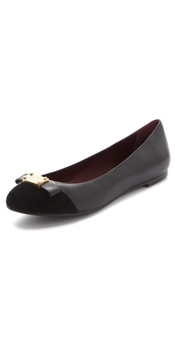Marc by Marc Jacobs Tuxedo Logo Ballet Flats