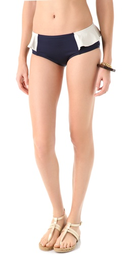 Marc by Marc Jacobs Colorblock Peplum Hipster Bikini Bottoms