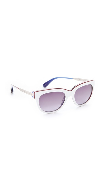 Marc by Marc Jacobs Triple Laminate Cat Eye Sunglasses