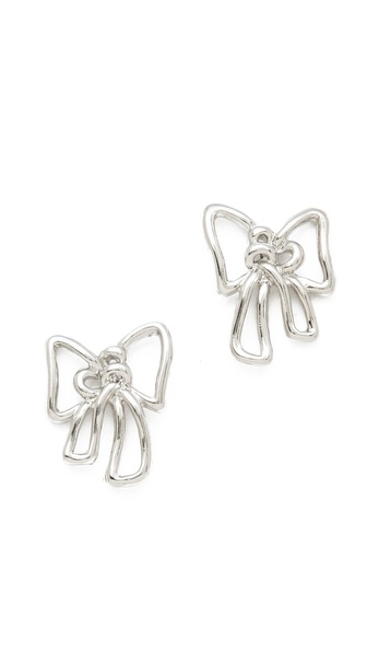 Marc by Marc Jacobs Metal Bow Stud Earrings
