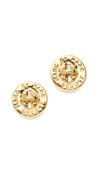 Marc by Marc Jacobs Turnlock Stud Earrings