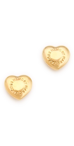 Shop Marc by Marc Jacobs Logo Heart Stud Earrings and Marc by Marc Jacobs online - Accessories,Womens,Jewelry,Earring, online Store