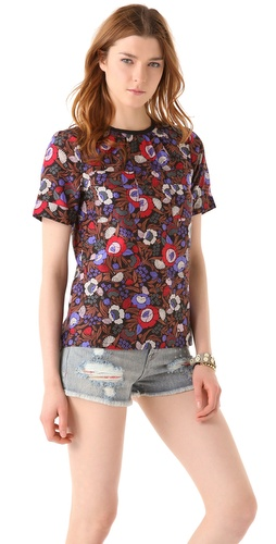 Marc by Marc Jacobs Wild Flower Print Blouse