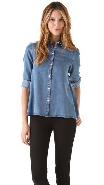 Marc by Marc Jacobs Ayler Tencel Denim Shirt