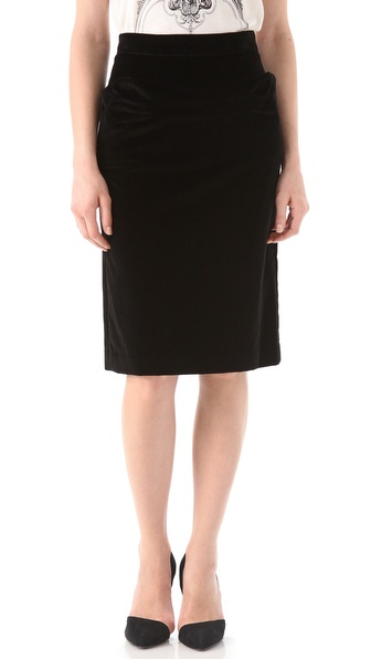 Marc by Marc Jacobs Galya Velvet Skirt
