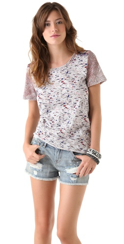 Marc by Marc Jacobs Mokume Floral Jersey Tee