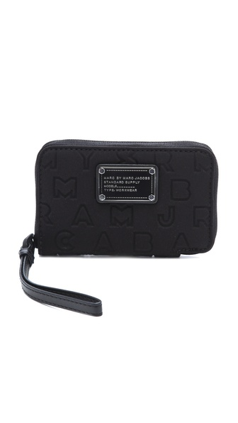 Marc by Marc Jacobs Dreamy Logo Wingman Wristlet