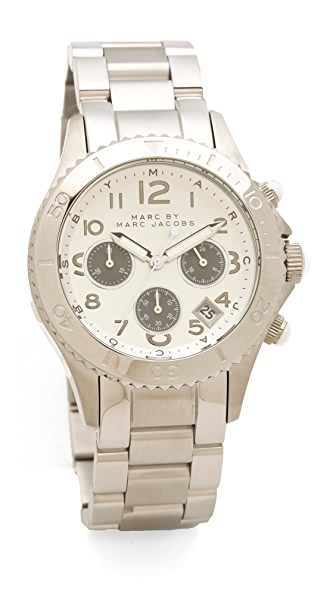 Marc By Marc Jacobs Marc By Marc Jacobs Rock Chronograph Watch (Silver)