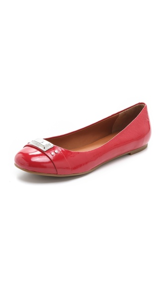 Marc by Marc Jacobs Logo Plaque Ballerina Flats