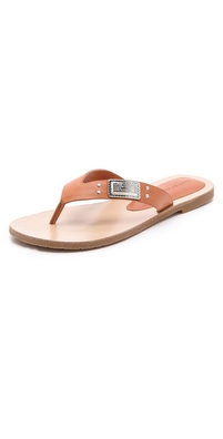 Marc by Marc Jacobs Logo Plaque Flip Flops
