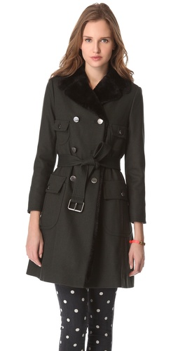 Shop Marc by Marc Jacobs Oaks Belted Long Coat and Marc by Marc Jacobs online - Apparel,Womens,Outwear,Car_Coat, online Store