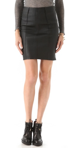 Shop Marc by Marc Jacobs Mirah Leather Pencil Skirt and Marc by Marc Jacobs online - Apparel,Womens,Bottoms,Skirts, online Store