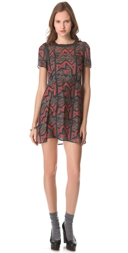 Shop Marc by Marc Jacobs Geo Maze Print Dress and Marc by Marc Jacobs online - Apparel,Womens,Dresses,Day_to_Night, online Store