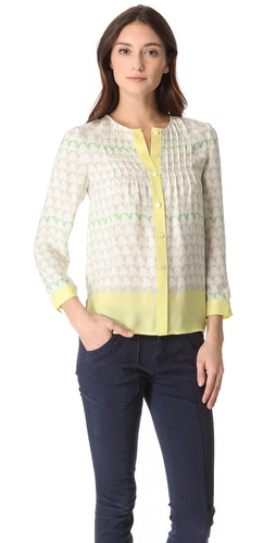 Marc by Marc Jacobs Burnside Print Button Down Top