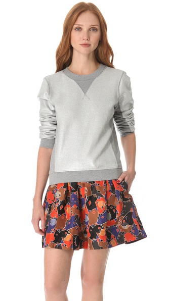 Marc by Marc Jacobs Foil Printed Sweatshirt