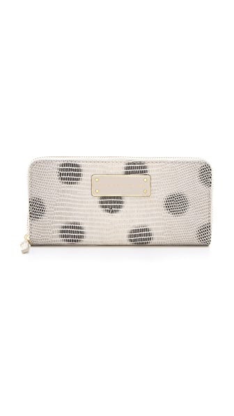 Marc by Marc Jacobs Take Me Embo Lizzie Dots Slim Zip Around Wallet