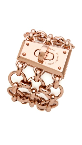 Marc by Marc Jacobs Mega Mesh Faceted Lock Bracelet