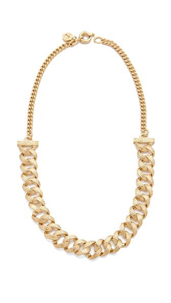 Marc by Marc Jacobs Lizard Texture Metal Necklace