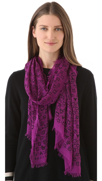 Marc by Marc Jacobs Dreamy Graffiti Scarf