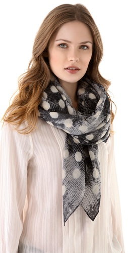 Shop Marc by Marc Jacobs B. Lizard Dot Scarf and Marc by Marc Jacobs online - Accessories,Womens,Fashion_Accessories,Scarves, online Store