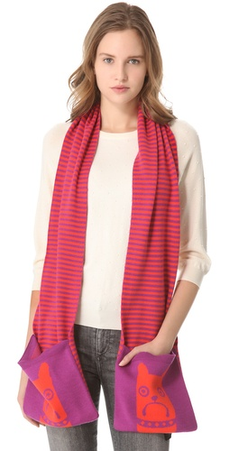 Shop Marc by Marc Jacobs Critter Scarf and Marc by Marc Jacobs online - Accessories,Womens,Cold_Weather,Scarves, online Store