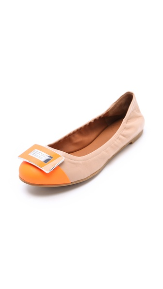 Marc by Marc Jacobs Neon Logo Plaque Flats