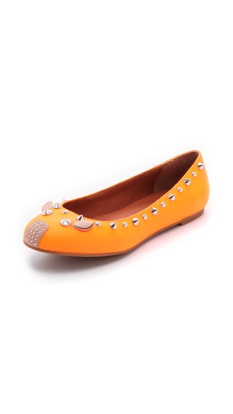 Marc by Marc Jacobs Studded Neon Mouse Flats