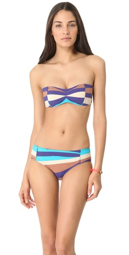 Shop Marc by Marc Jacobs Vintage Stripe Bandeau Bikini Top and Marc by Marc Jacobs online - Apparel, Womens, Swim, Swim,  online Store