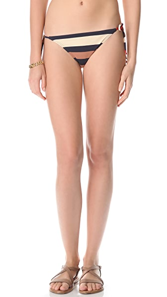 Marc by Marc Jacobs Vintage Stripe Side Tie Bikini Bottoms