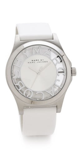 Marc by Marc Jacobs Henry Skeleton Leather Watch at Shopbop.com