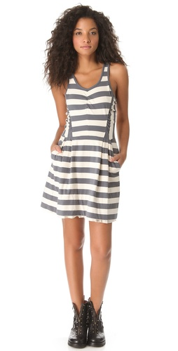 Shop Marc by Marc Jacobs Rapture Striped Jersey Dress and Marc by Marc Jacobs online - Apparel,Womens,Dresses,Day_to_Night, online Store
