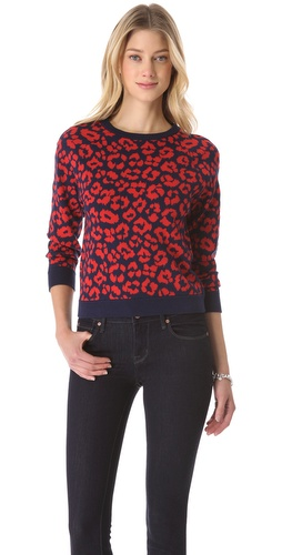 Shop Marc by Marc Jacobs Lita Cheetah Sweater - Marc by Marc Jacobs online - Apparel,Womens,Sweaters,Pull_Over, at Lilychic Australian Clothes Online Store