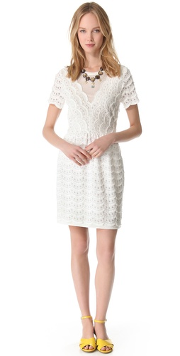 Shop Marc by Marc Jacobs Scallop Tier Lace Dress and Marc by Marc Jacobs online - Apparel, Womens, Dresses, Day_to_Night,  online Store
