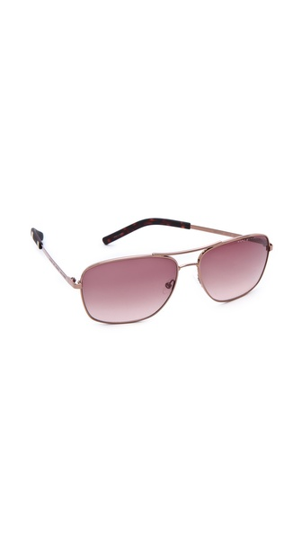 Marc by Marc Jacobs Metal Square Aviator Sunglasses