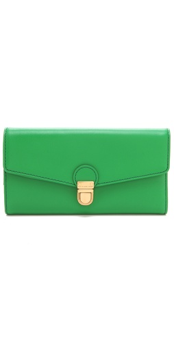 Marc by Marc Jacobs Top Chicret Solid New Long Trifold Wallet at Shopbop.com